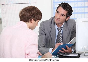 tutor, raten, seine, schueler