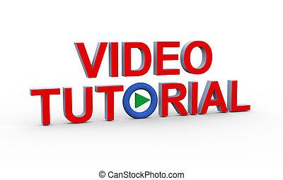 tutorenkurs, text, video, 3d