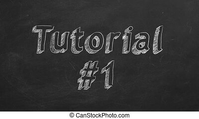 "Tutorial 1 - Hand drawing and animated text ""Tutorial #1"" on..."