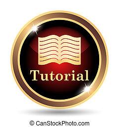 Tutorial icon. Internet button on white background.