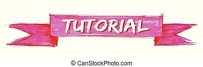 tutorial ribbon - tutorial hand painted ribbon sign