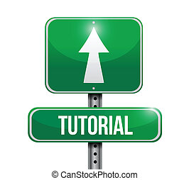 tutorial road sign illustration design
