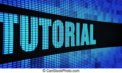 tutorial Side Text Scrolling LED Wall Pannel Display Sign Board