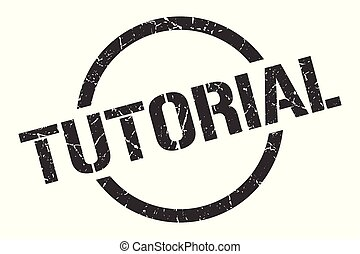 tutorial stamp - tutorial black round stamp