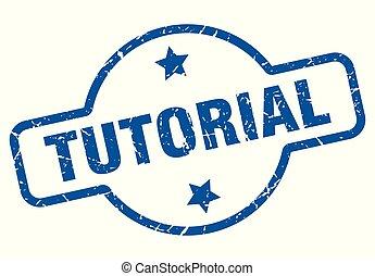 tutorial vintage stamp. tutorial sign