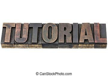 tutorial word in wood type