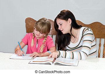 Tutoring2 - Big sister helping with homework