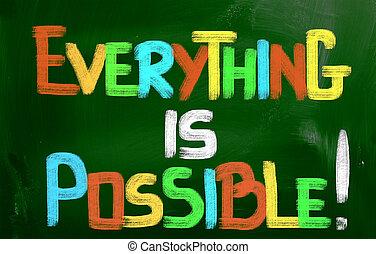tutto, è, possibile, concetto