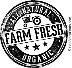 tutto, naturale, fattoria, prodotto, fresco, organico