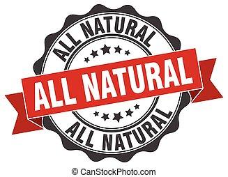 tutto, naturale, stamp., segno., sigillo