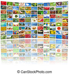 tutto, usato, immagini, schermo tv, immagini, proprietà,...
