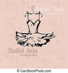 Tutu background - Background with hand drawn tutu