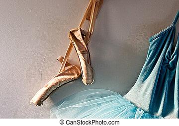 tutu, pointe, shoes