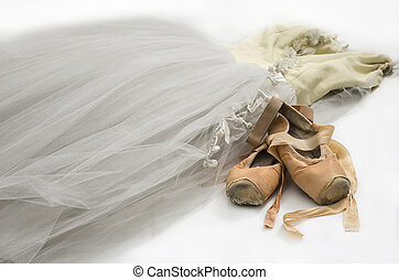 Tutu with ballet shoes