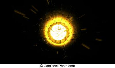 Tuunel Explosion. CG. HD