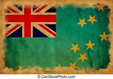 Tuvalu grunge flag