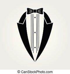Tuxedo icon isolated on white background.