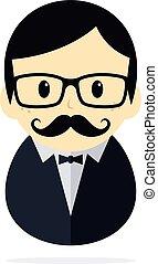 tuxedo man theme vector art graphic illustration