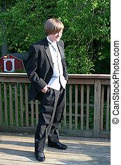 Tuxedo Teen Full Length Hands In Pockets