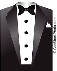 Tuxedo vector illustration.