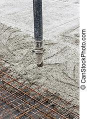tuyau, concrete.