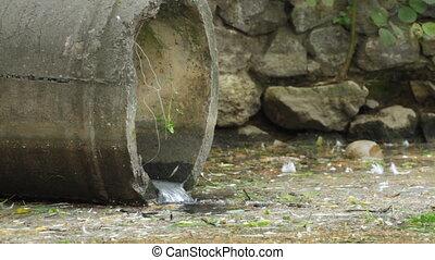 tuyau, eaux égout