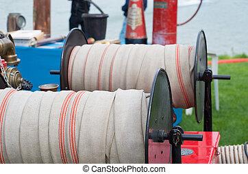 tuyau pompe incendie, bobine