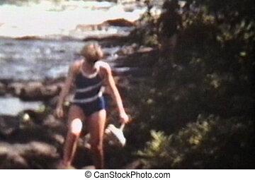 tuyauterie, rivière, intérieur, (1978)