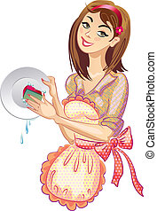 tvätta, dishes., tvättmedel