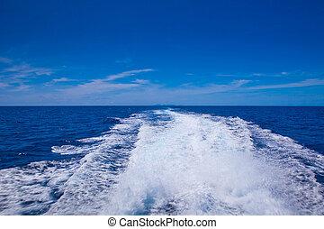 tvätta, snar, båt, stötta