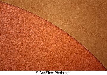 två, brun, läder, struktur