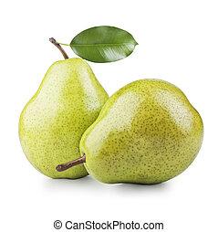 två, mogen, päron