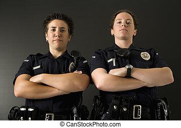två, policewomen.