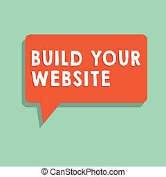 tvůj, povolání, text, showing, systém, up, sázení, stavět, website., fotografie, pojmový, firma, ecommerce, obchod