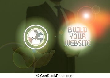 tvůj, website., stavět, sázení, firma, pojmový, showing, text, fotografie, obchod, up, systém, ecommerce, business.