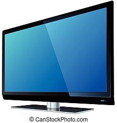 tv, écran plat visualisation, lcd
