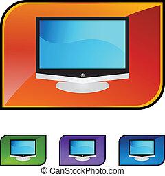 tv, écran plat visualisation