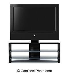 tv αναθέτω , στούντιο , render, 3d
