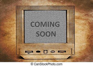 tv, まもなく, 到来