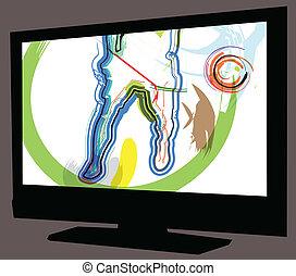 tv, ゲーム, フットボール