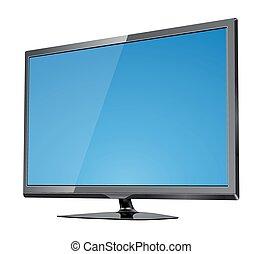 tv スクリーン, 平ら, lcd, リードした, ベクトル, イラスト