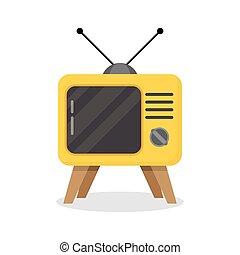 tv, バックグラウンド。, 白, レトロ