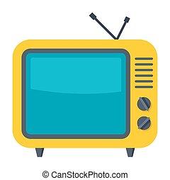 tv, ベクトル, アイコン