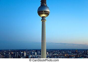 tv, ベルリン, スカイライン, タワー