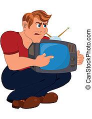 tv, 保有物, 老人, 漫画