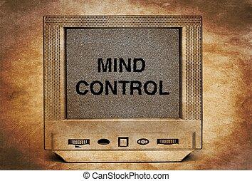 tv, 制御, 心