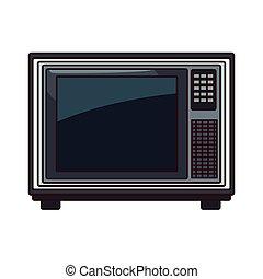 tv, 古い, 隔離された