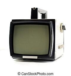 tv, 型, セット, ポータブル