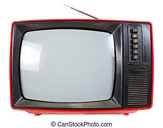 tv, 型, セット, ポータブル, isolared