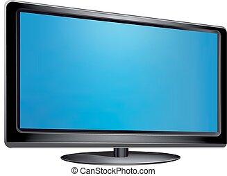 tv, 平らなスクリーン, ベクトル, -